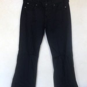 Black flare trouser jean by 7 For All Mankind